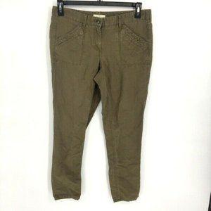 LOFT Marisa Mid Rise Skinny Olive Green Chino Pant